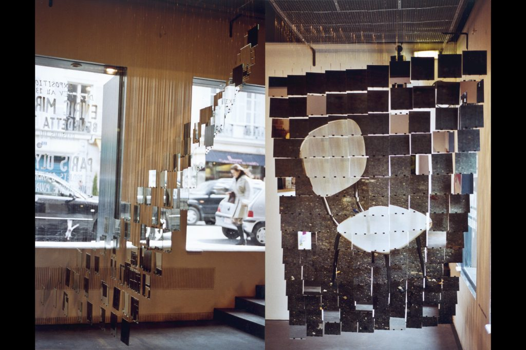 "Installation photo ""Inside Out"", Institut Français d'Architecture, 2001."