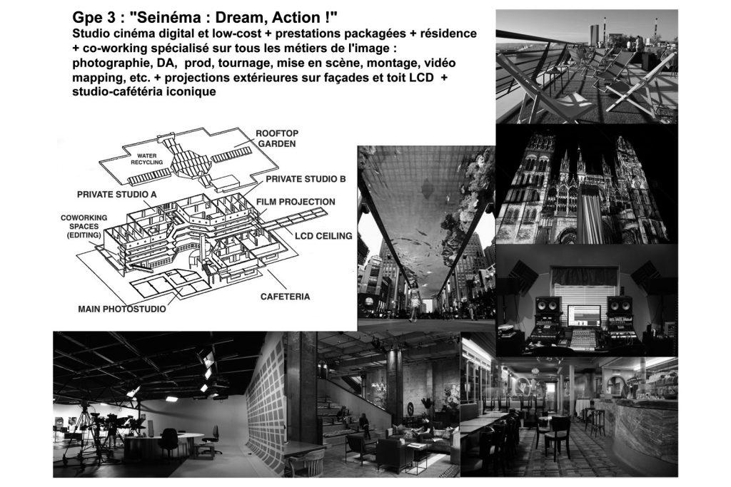 LIID Art-Based Urban Lab : Design de projets innovants pour le Chai à Vin, Port de Rouen, programme Réinventer la Seine, 2016.
