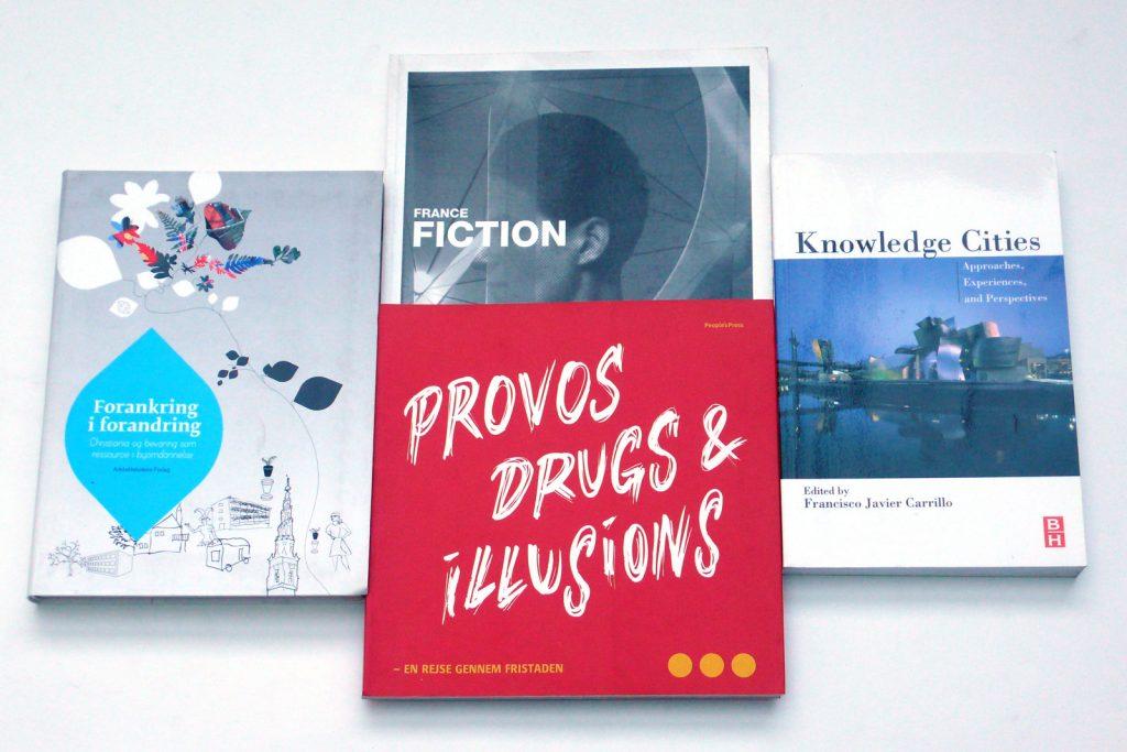 Divers publications à la suite de la recherche prospective menée sur le quartier de Christiania, Copenhague.