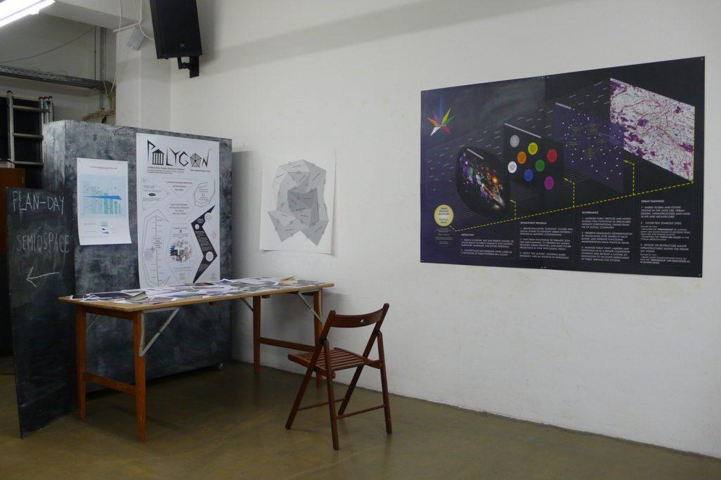 Projets Polygon et Paris Galaxies, dans l'expo-recherche Semiospace, Corner College, Zurich